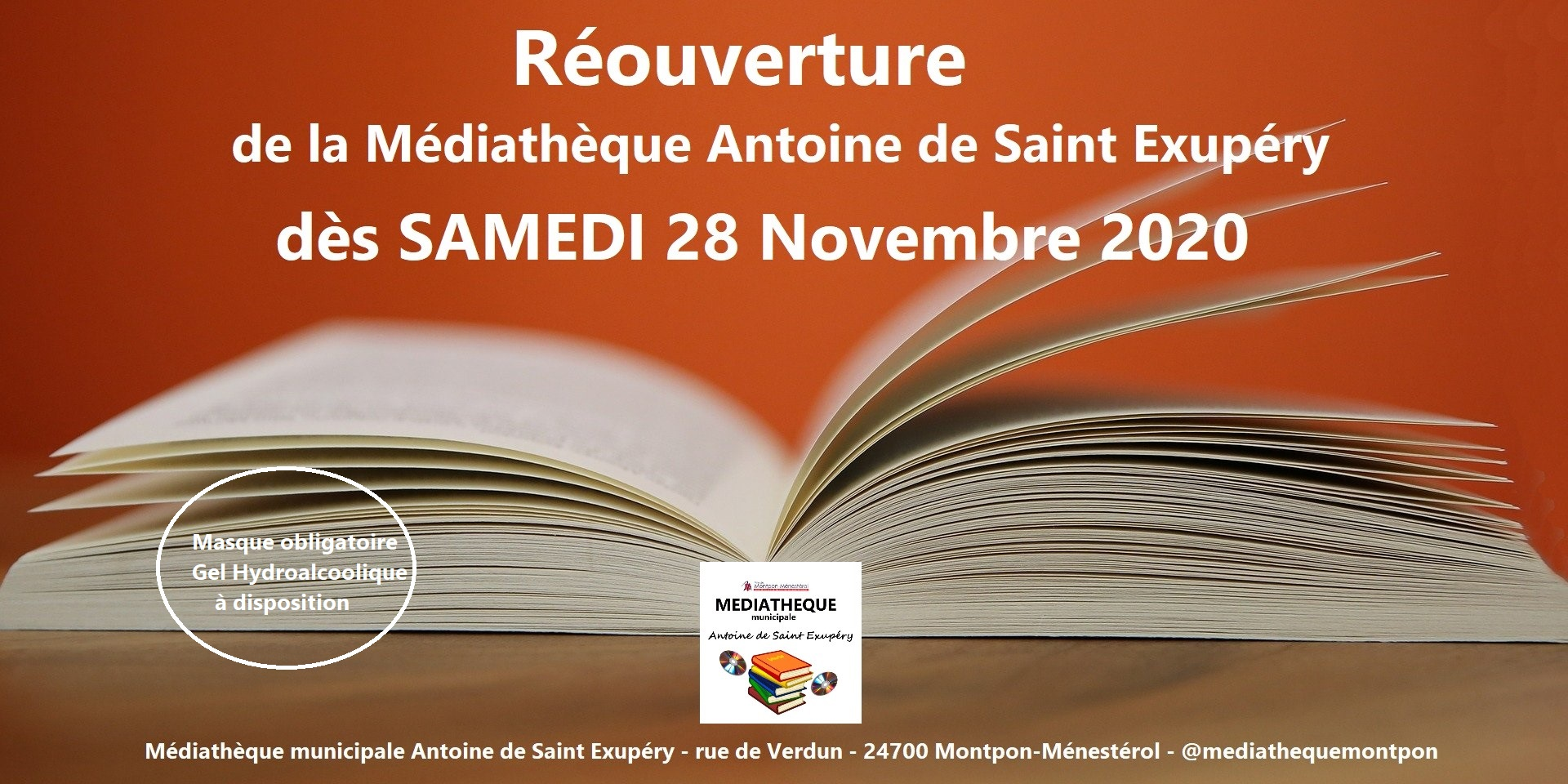 reouverture mediatheque 28112020
